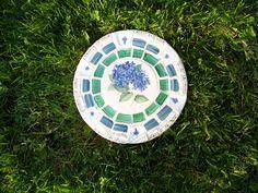 Mosaic Stepping Stone~Blue Hydrangea