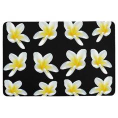 Frangipani Sensation Large Soft Floor Mat. Floor Mat - patterns pattern special unique design gift idea diy