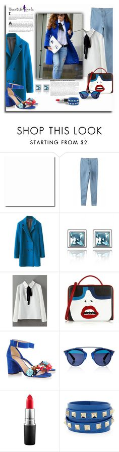 """""""Get the Look with Beautiful Halo"""" by chixdejesus ❤ liked on Polyvore featuring Mark Cross, J.Crew, Christian Dior, MAC Cosmetics and Valentino"""