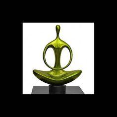 Lack Skulptur Silence in Grün