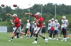 Brian Hoyer & Tom Brady in Training Camp 2012