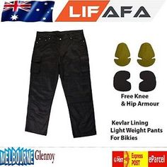 luz de algodon pantalones regular fit para motociclista forro de kevlar protectora negro - Categoria: Avisos Clasificados Gratis  Estado del Producto: NuevoDescription:Specifications:These trousers are Reinforced with KEVLARA fiber on Hip, Thighs and Knee impact Areas These Trousers are made with heavy duty cotton Free set of Removable CE Armoured Knee and Thigh Protectors Inner Armour pockets for easy access to install or remove knee and hip armour as required Genuine Knitted Yellow KevlarA…