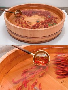 painting 3D looking fish in resin