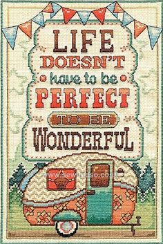 Buy #Wonderful Life #CrossStitch Kit Online at www.sewandso.co.uk  I LOVE the look of this kit!
