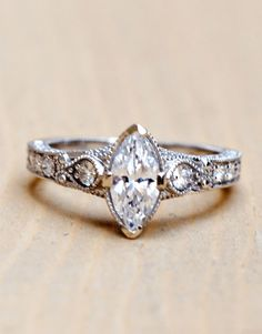 Wilson Diamonds: Ring Style Number R5447E #marquis #vintagering