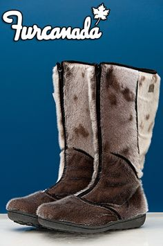 Ladies Seal Skin Boots - Furcanada $389  real boots inuit