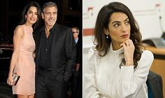 Amal Clooney will no longer wear her diamond engagement ring at work | Daily Mail Online