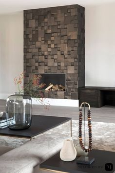 The lord of the manor - Studio Mariska Jagt Living Room Colors, Living Room Decor, Living Rooms, Modern Fireplace, Tiled Fireplace, Home Living, Home Look, Being A Landlord, Interior Architecture