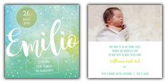 Emilio: Geburtskarte 148x148 mm // Karte ist auch in rosa erhältlich