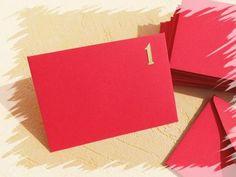Umschläge Adventskalender rot