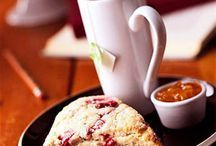 Fresh Cranberry Scones - Honey adds sweetness to the dough but is also a great topper for the baked biscuits when they're still warm from the oven.