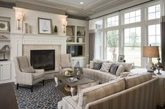 Seamed drapes in a sophisticated living room - Drapery Street