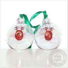 Reindeer Thumbprint Christmas Ornaments Tutorial for a Christmas party craft. #christmas #craft #kids | best stuff