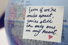 Very true!! Its no fun having your love half a world away!