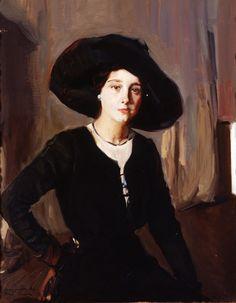 Elena with Hat 1910 - Joaquin Sorolla - (Spanish: Spanish Painters, Spanish Artists, Post Impressionism, Classical Art, Lovers Art, Great Artists, Art Gallery, Fine Art, Fashion Portraits