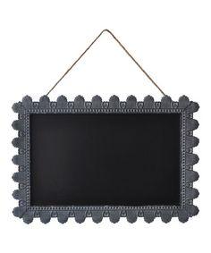 Love this Metal Rectangular Frame Chalkboard on #zulily! #zulilyfinds