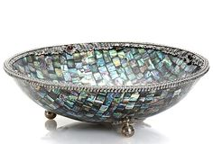 Abalone Round Bowl w/ Sterling on OneKingsLane.com what a piece!!