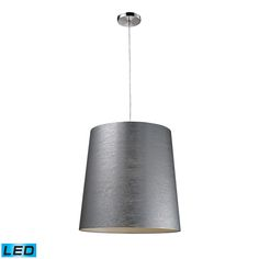 LIGHTING OPTIONS: ELK LIGHTING-   20164/1-LED Couture 1-Light Pendant In Polished Chrome - LED Offering Up To 800 Lumens (60 Watt Equivalent) With