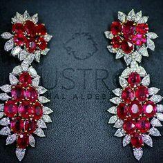 @Remalfala from @lustro_md - Diamonds rubies earrings
