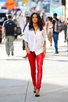 24e17e868c9 ciara red leather pants Red Leather Pants