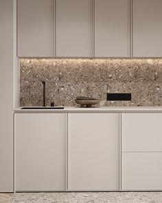 Kitchen Room Design, Kitchen Dinning, Modern Kitchen Design, Modern Interior Design, Interior Design Kitchen, Room Interior, Interior Architecture, Interior Decorating, Cocinas Kitchen