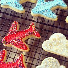 Yummy biccies we made for the fab @luckydipclub #ldcpackingparty . Enjoy! Nom, nom nom #BKD #bkdlondon #biscuits #cookies #aeroplanes #adventure #seekadventure #sprinkles #bakery #bespokecookies #bespokebiscuits #bakestagram #clouds #gold #red #blue #rainbow #peckham #london #foodporn #abmlifeissweet #feedfeed #vscofood #instafood #instagood #huffposttaste #f52grams #artisan