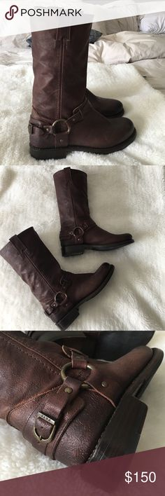 """FRYE Brown Boots size 7 1/2 New without tags or box FRYE Brown Boots size 7 1/2. Heel is 1"""" inch high. Boot opening is 7"""" inches wide aprox. Please look at pictures for better reference. Happy shopping! Frye Shoes Heeled Boots"""