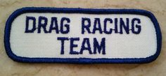 1970s Vintage Drag Racing Team Patch New Old Stock Motorcycles NASCAR pit crew uniform sew-on racing collectible by TheHartyHoca on Etsy