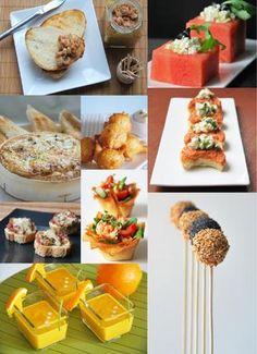"""Find magazines, catalogs and publications about """"aperitivos"""", and discover more great content on issuu. Appetizer Buffet, Appetizer Recipes, Aperitivos Vegan, Food Decoration, Mini Foods, Appetisers, Antipasto, Appetizers For Party, Healthy Options"""