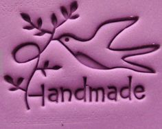 Dove Mini Soap Stamp Olive branch Soap Stamp Polyer Clay Mold Peace Dove Soap Mold Handmade Soap Stamp