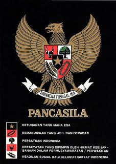 A depiction of the Garuda Pancasila on a poster; each tenet of the Pancasila is written beside its symbol. Foto Poster, Indonesian Art, Morning Greetings Quotes, Cartoon Jokes, Cover Tattoo, Galaxy Wallpaper, Coat Of Arms, Photo Editing, Politics
