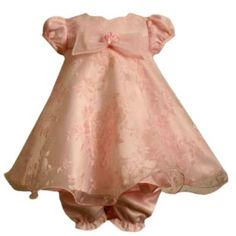 Bonnie Jean Baby/NEWBORN 3M-9M 2-Piece PINK ROSE PRINT BURNOUT ORGANZA OVERLAY TRAPEZE Special Occasion Flower Girl Holiday Party Dress  Price:	$39.95