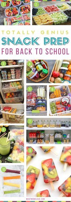 Organizing tips for back to school | Healthy snack prep ideas for kids school lunches