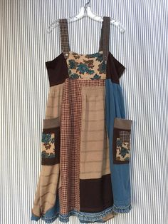 Upcycled patchwork boho gypsy Dress Rustic Cowgirl Chic