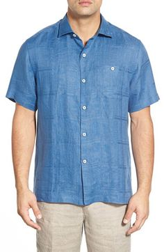 Tommy Bahama Tommy Bahama 'San Marino' Island Modern Fit Linen Camp Shirt available at #Nordstrom