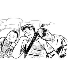 Three sleeping childs, fra(z)