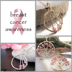 breast cancer awareness jewelry branches by megan darienzo  @Etsy