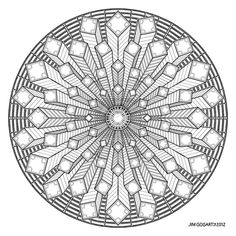 Difficult Level Mandala Coloring Pages | Mandala drawing 38 by Mandala-Jim