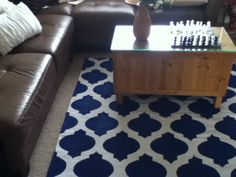 DIY: how to paint a rug :)