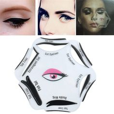6 in 1 Makeup Beauty Cat Eyeliner Smoky Eye Stencil Models Template Shaper Tool #UnbrandedGeneric #EyelinerTemplate