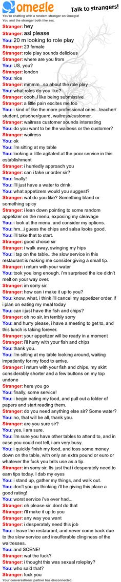 Omegle chat log so funny