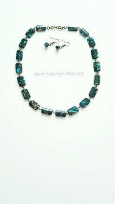 Turquoise Necklace, Simple Necklace, Blue Boho Necklace, Vintage Necklace, Gifts for her,  Necklaces, Retro Bib Choker, gift ideas by JewelrybyEspe on Etsy https://www.etsy.com/listing/210804164/turquoise-necklace-simple-necklace-blue