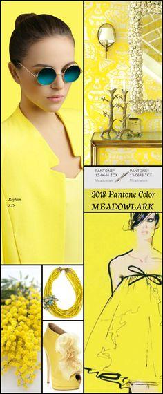 ''2018 Pantone Color - Meadowlark '' by Reyhan S.D.