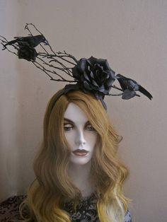 Morrigan's Crown: Raven Headpiece Black Rose Headband