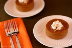 World's Best Crustless Pumpkin Pies | TheBestDessertRecipes.com
