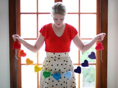 Colorful heart Valentine's Day garland!