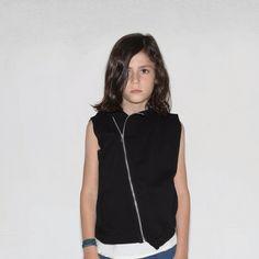 69e6082172c Nununu hooded diagonal vest in black