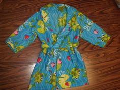 New Handmade Fleece Frog Bathrobe size 6 #Handmade #Robe