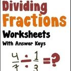 Dividing Fractions - A collection of 250 printable dividing fractions worksheets.  This collection of worksheets contains several 2-page pdf files ...