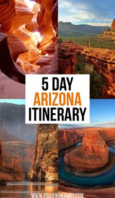 The Ultimate 5 Day Arizona Road Trip Itinerary Are you looking for the best Arizona road trip itinerary? Our 5 day Arizona guide will help you to plan the perfect road trip in Arizona! Arizona Road Trip, Sedona Arizona, Arizona Travel, Arizona Usa, Page Arizona, Phoenix Arizona, Grand Canyon Arizona, Visit Arizona, Scottsdale Arizona